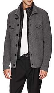 Fay Men's Wool Cardigan With Removable Vest - Light Gray