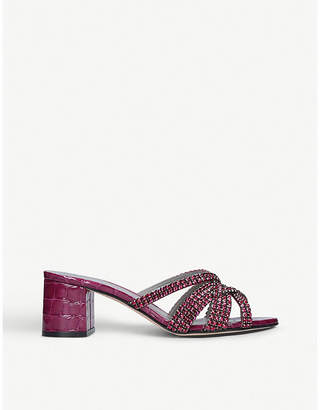 Gina Dexie mock-croc leather sandals
