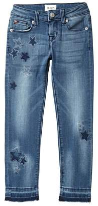 Hudson Embroidered Star Patch Skinny Jeans (Big Girls)