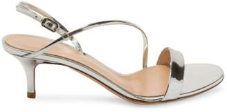Gianvito Rossi Metallic Leather Slingback Sandals