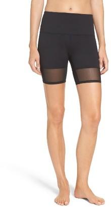Women's Zella Mia High Waist Mesh Bike Shorts $49 thestylecure.com