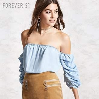 Forever 21 (フォーエバー 21) - パフスリーブオフショルブラウス