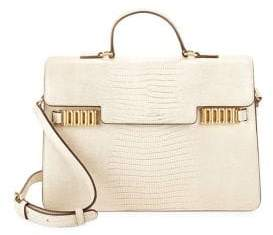 Donna Karan Paola Structured Leather Satchel
