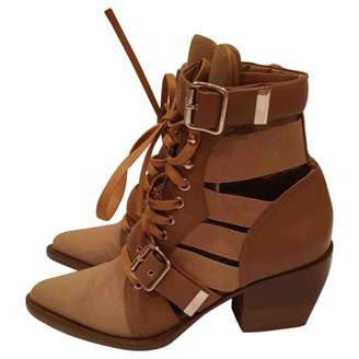 Chloé Rylee Brown Suede Ankle boots