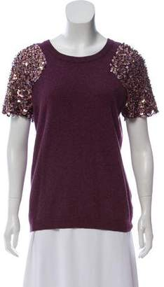 Tory Burch Wool Sequin Top