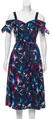Jason Wu Floral Printed Midi Dress w/ Tags