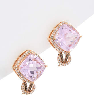 Effy Fine Jewelry 14K Rose Gold 11.94 Ct. Tw. Diamond & Amethyst Earrings