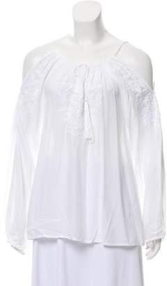 Melissa Odabash Embroidered Cold-Shoulder Top