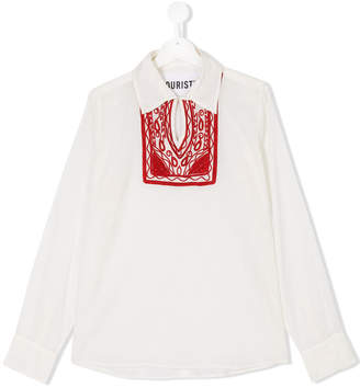 Touriste TEEN long sleeve embroidered blouse