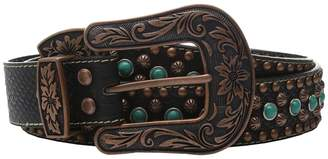 M&F Western Nailhead and Turquoise Stone Belt Women's Belts