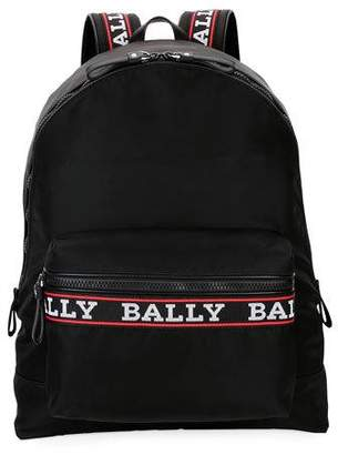 Bally Men's Biggie XL0 Logo-Tape Nylon Backpack