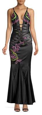 Mandalay Embellished Trumpet Gown