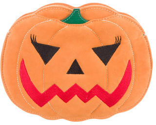 Charlotte OlympiaCharlotte Olympia Suede Boo! Pumpkin Clutch