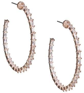 Kenneth Jay Lane CZ By CZ Inside Out 50mm Hoop Earrings