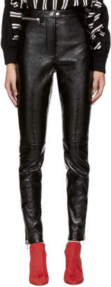 3.1 Phillip Lim Black Patent Leather Ankle Zip Leggings
