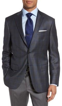 Men's Hart Schaffner Marx Classic Fit Plaid Wool Sport Coat $595 thestylecure.com