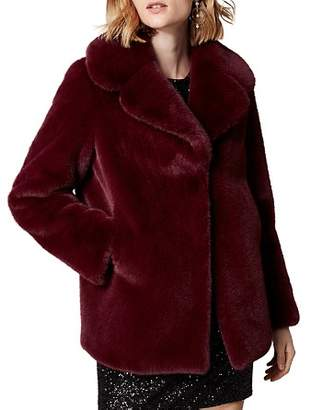 Karen Millen Relaxed Faux Fur Jacket