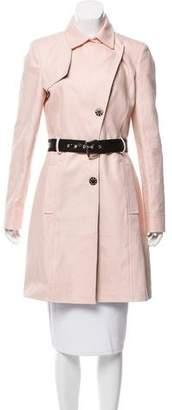 Versace Belted Knee-Length Coat