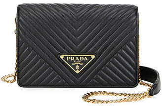 Prada Diagramme Small Crossbody Bag w/ Removable Strap
