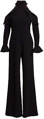 ML Monique Lhuillier Women's Cold-Shoulder Jumpsuit
