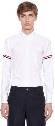 Thom Browne Cotton Oxford Shirt W/ Striped Arm Bands