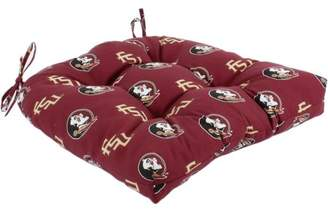 """College Covers Florida State Seminoles Indoor / Outdoor Seat Cushion Patio D Cushion 20"""" x 20"""", 2 Tie Backs"""