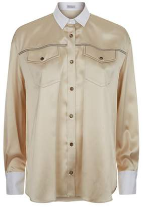 Brunello Cucinelli Monili Chain Blouse