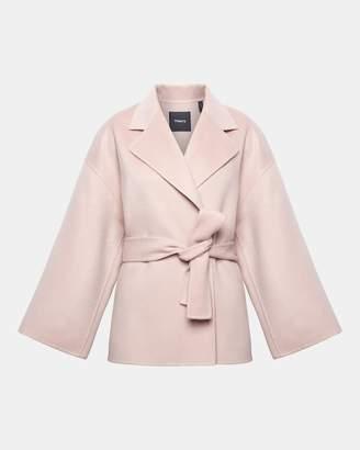 Theory Wool-Cashmere Robe Jacket