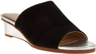 Judith Ripka Leather Wedge Slide Sandals - Jaimie
