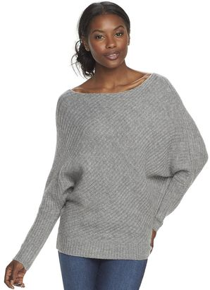 Women's Juicy Couture Ribbed Dolman Sweater $50 thestylecure.com