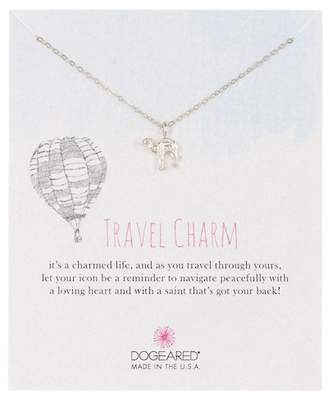 Dogeared Sterling Silver Travel Charm Camel Pendant Necklace