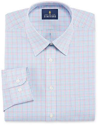 STAFFORD Stafford Travel Stretch Performance Super Shirt Mens Point Collar Long Sleeve Wrinkle Free Stretch Dress Shirt