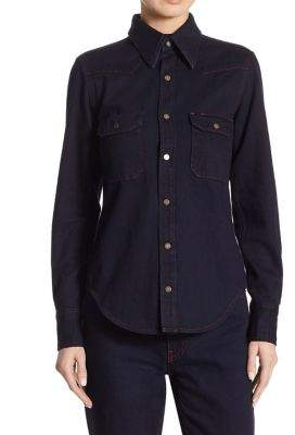 CALVIN KLEIN 205W39NYC Denim Button Front Shirt