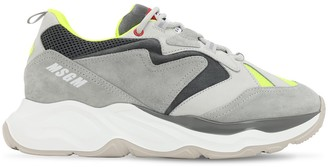 MSGM CHUNKY MESH & SUEDE SNEAKERS