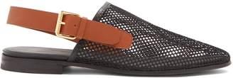 COLVILLE Mesh slingback loafers
