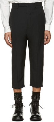 Rick Owens Black Cropped Astairs Trousers $845 thestylecure.com