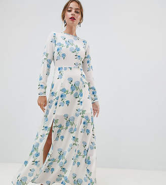 Miss Selfridge Petite maxi dress in floral print