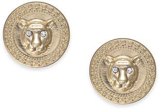 Thalia Sodi Gold-Tone Crystal Lion Stud Earrings
