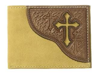 M&F Western Embossed Tab with Cross Bifold Wallet Wallet Handbags