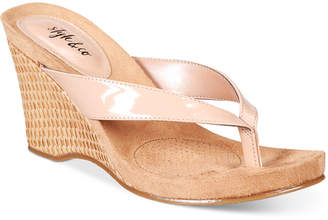 Style & Co Chicklet Wedge Thong Sandals, Only at Macy's $39.50 thestylecure.com