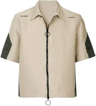 Ex Infinitas zipped shirt