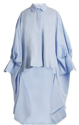 Palmer Harding Palmer//Harding Palmer//harding - Point Collar Cotton Blend Poplin Shirt - Womens - Blue