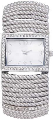 Charter Club Women's Silver-Tone Stretch Bracelet Watch 42mm
