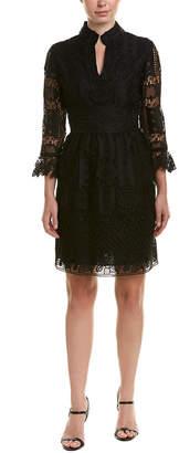 Anna Sui Floral Diamond And Medallion Lace A-Line Dress