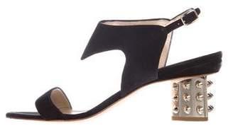 Nicholas Kirkwood Suede Ankle-Strap Sandals