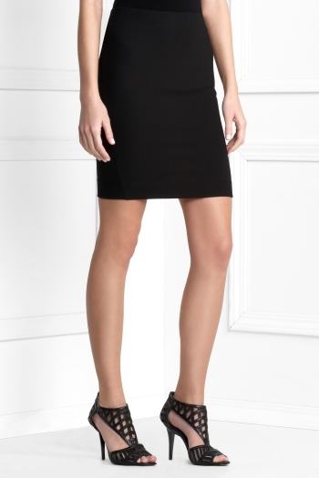 Contrast Pencil Skirt
