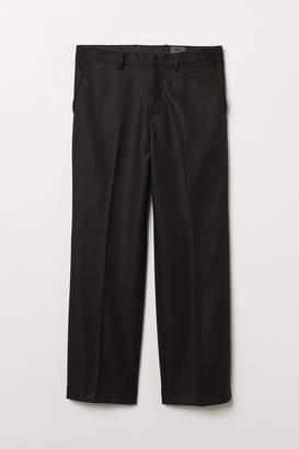 H&M Wide-cut Wool Suit Pants - Black