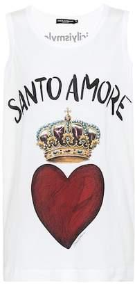 Dolce & Gabbana Santo Amore cotton tank top