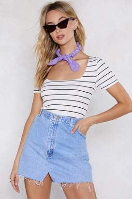 Nasty Gal Preppy and Ready Striped Tee