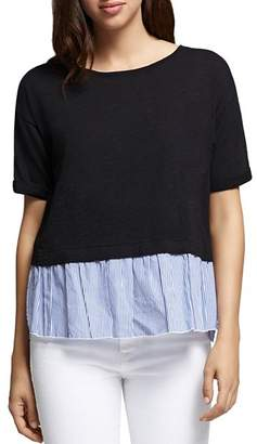 Sanctuary Skye Lace-Up Layered-Look Top